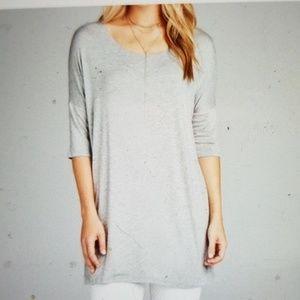 Swanky Coconut- Gray Jersey Tunic